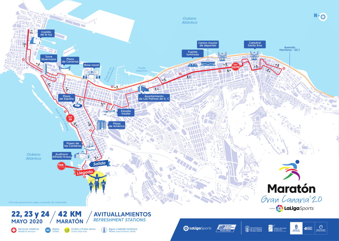 Course of the Maratón Gran Canaria '20